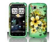 BJ For HTC Sensation 4G Rubberized Hard Design Case Cover - Natural Flowers