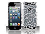 Apple iPhone 5/5S Case, Flower Metal Aluminum Case Cover for Apple iPhone 5/5S, Silver