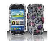 BJ For Samsung Galaxy Stellar 4G i200 Full Diamond Design Case Cover - Colorful Leopard 9SIA0PG1C50290