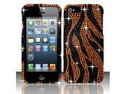 Apple iPhone 5/5S Case, Zebra Rhinestone Diamond Bling Hard Snap-in Case Cover for Apple iPhone 5/5S, Colorful