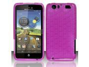 BJ For Motorola Atrix 3 HD MB886 TPU Gel Skin Case Cover w/ Pattern - Hot Pink