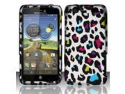 BJ For Motorola Atrix 3 HD MB886 Rubberized Hard Design Case Cover - Colorful Leopard