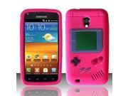 BJ For Samsung Epic Touch 4G D710 Gameboy Silicone Skin Case Cover - Hot Pink