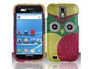 BJ For Samsung Hercules T989 Galaxy S2 Full Diamond Design Case Cover - Owl