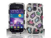 BJ For Samsung Illusion/Galaxy Proclaim i110 Full Diamond Design Case Cover - Colorful Leopard