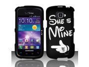 BJ For Samsung Illusion/Galaxy Proclaim i110 Rubberized Hard Design Case Cover - She`s Mine