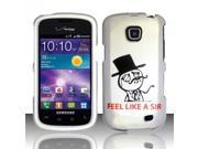 BJ For Samsung Illusion/Galaxy Proclaim i110 Rubberized Hard Design Case Cover - Feel like a Sir