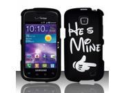BJ For Samsung Illusion/Galaxy Proclaim i110 Rubberized Hard Design Case Cover - He`s Mine