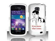 BJ For Samsung Illusion/Galaxy Proclaim i110 Rubberized Hard Design Case Cover - If you know