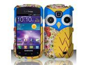 BJ For Samsung Illusion/Galaxy Proclaim i110 Rubberized Hard Design Case Cover - Owl 2