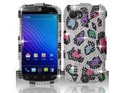 BJ For ZTE Warp Sequent/Warp 2 N861 Full Diamond Design Case Cover - Colorful Leopard