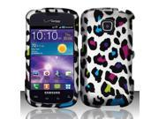 BJ For Samsung Illusion/Galaxy Proclaim i110 Rubberized Hard Design Case Cover - Colorful Leopard
