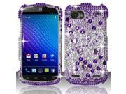 BJ For ZTE Warp Sequent/Warp 2 N861 Full Diamond Design Case Cover - Purple Beats