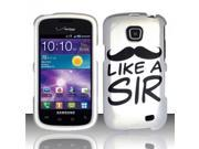 BJ For Samsung Illusion/Galaxy Proclaim i110 Rubberized Hard Design Case Cover - Like a Sir