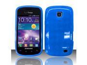 BJ For Samsung Illusion/Galaxy Proclaim i110 TPU Gel Cover Case - Blue