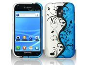 BJ For Samsung Hercules T989 Galaxy S2 (T-Mobile) Rubberized Design Case Cover - Blue Vines