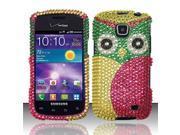 BJ For Samsung Illusion / Galaxy Proclaim i110 (Verizon/Straight Talk) Full Diamond Design Case Cover - Owl FPD