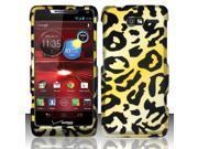 BJ For Motorola Droid RAZR M 4G LTE XT907 (Verizon) Rubberized Design Case Cover - Cheetah