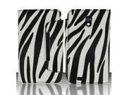 BJ For Samsung Epic Touch 4G D710 / Galaxy S2 (Sprint/Boost) - Horizontal Flap ID Pouch w/ Credit Card Pockets - Zebra