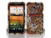 BJ For HTC Evo 4G LTE (Sprint) Full Diamond Design Case Cover - Cheetah FPD
