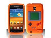 BJ For Samsung Epic Touch 4G D710 / Galaxy S2 (Sprint/Boost) Gameboy Silicone Skin Case - Orange SCGB