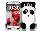 BJ For LG Optimus G Pro E980 (AT&T) - Rubberized Design Case Cover - Panda Bear