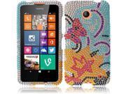 HRW For Nokia Lumia 635 (T-Mobile / Metro PCS) Full Diamond Cover Case - Yellow Lily