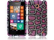 HRW For Nokia Lumia 635 (T-Mobile / Metro PCS) Full Diamond Cover Case - Pink Leopard
