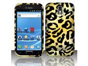 BJ For Samsung Hercules T989 Galaxy S2 (T-Mobile) Rubberized Design Cover - Cheetah Design
