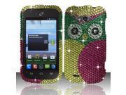BJ For ZTE Savvy Z750c - Full Diamond Design Cover - Owl FPD