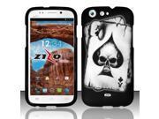For BLU Life One L120 - Rubberized Design Cover - Spade Skull