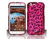 For BLU Life One L120 - Rubberized Design Cover - Pink Leopard