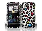 BJ For HTC Sensation 4G - Rubberized Design Cover - Colorful Leopard