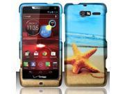 BJ For Motorola Droid RAZR M 4G LTE XT907 (Verizon) Rubberized Design Cover - Star Fish