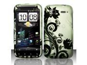 BJ For HTC Sensation 4G - Rubberized Design Cover - Black Vines