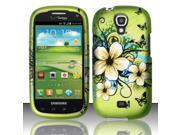 BJ For Samsung Stratosphere 2 i415 - Rubberized Design Cover - Hawaiian Flowers
