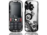 BJ For Huawei Pal U2800 / U2800a (MetroPCS / AT&T) Rubberized Design Cover - Black Vines