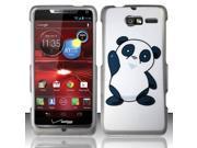 BJ For Motorola Droid RAZR M 4G LTE XT907 (Verizon) Rubberized Design Cover - Friendly Panda Bear