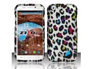 For BLU Life One L120 - Rubberized Design Cover - Colorful Leopard