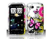 BJ For HTC Sensation 4G - Rubberized Design Cover - Butterfly