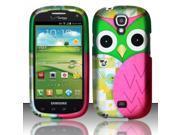BJ For Samsung Stratosphere 2 i415 - Rubberized Design Cover - Owl Design