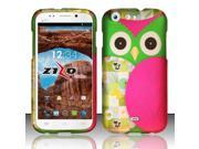 For BLU Life One L120 - Rubberized Design Cover - Owl