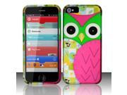 BJ For Apple iPhone 5 / 5s - Rubberized Design Cover - Owl