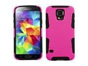 For Galaxy S5 Hot Pink/Black Astronoot Phone Protector Cover