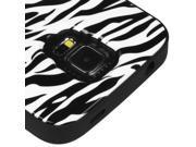 Black Zebra Hard Shell + Silicone Cover VERGE Hybrid Case for Samsung Galaxy S5