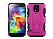Hot Pink/Black Transformers Armor Rugged Case +Kick Stand for Samsung Galaxy S5