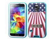 Teal Shell + Silicone Cover VERGE Hybrid Case with Stand for Samsung Galaxy S5 9SIA0PG1TC9138