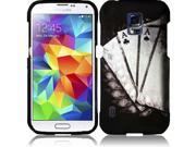 HRW For Samsung S5 Active G870 Rubberized Design Cover Case - Vintage Ace 9SIA2ZJ35T7817