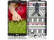 HRW For LG G3 Mini Rubberized Design Cover Case - Antique Aztec Tribal 9SIA2ZJ35T7768