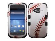 MYBAT Baseball-Sports Collection/Black TUFF Hybrid Phone Protector Cover compatible with ZTE Z730 (Concord II)